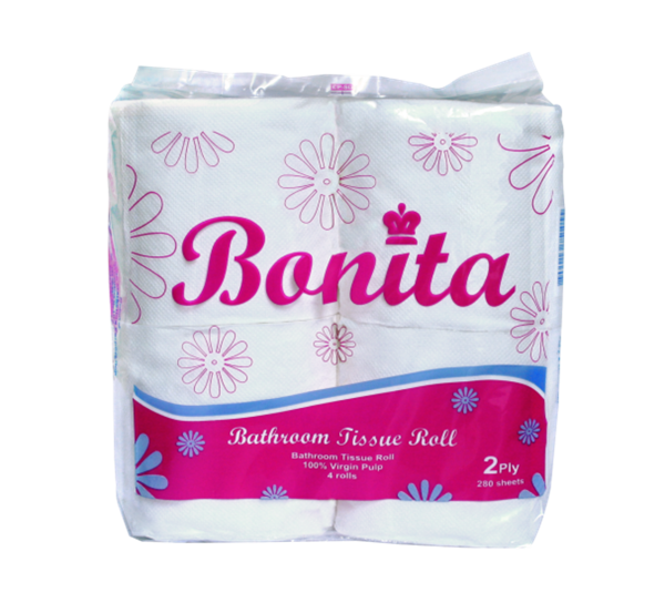 Bonita Tissue Roll 2-Ply 300 Sheets x 4's