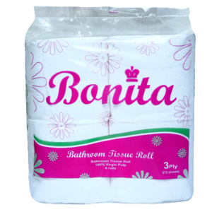 Bonita Tissue Roll 3-Ply 450 Sheets x 4's
