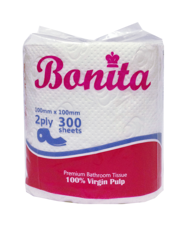 Bonita Tissue Roll 2-Ply 300 Sheets Singles
