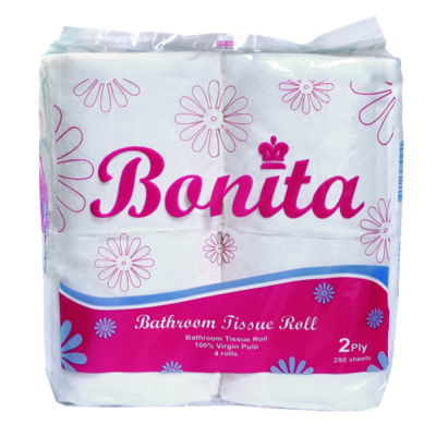 Bonita Tissue 2-Ply 300 Sheets by 4s