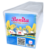 Bonita Quarterfold Table Napkin 1-Ply 350 Sheets