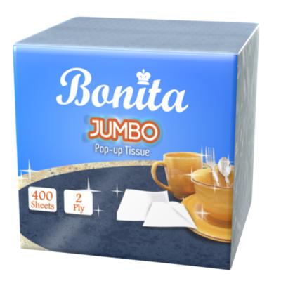 Bonita Jumbo Pop Up 2-Ply 400 Sheets